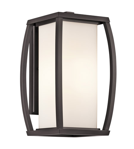 Kichler Lighting Bowen 1 Light Outdoor Wall Lantern in Architectural Bronze 49338AZ