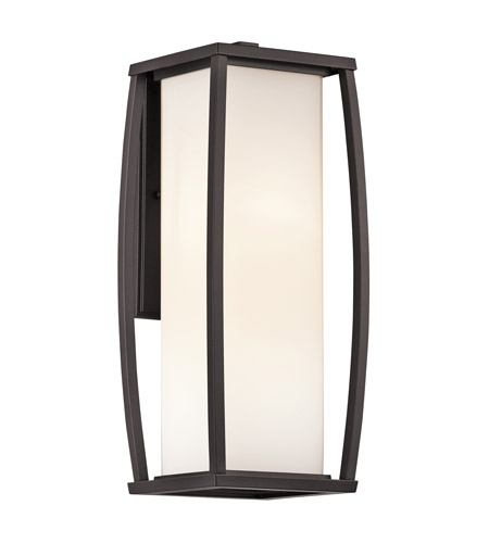 Kichler Lighting Bowen 2 Light Outdoor Wall Lantern in Architectural Bronze 49339AZ