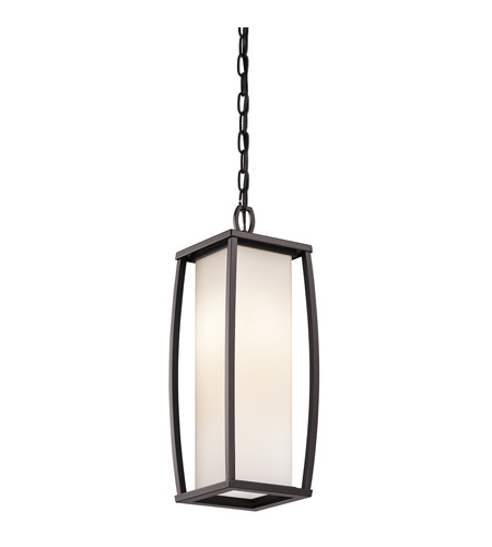 Kichler 49341AZ Bowen 2 Light 7 inch Architectural Bronze Outdoor Pendant photo