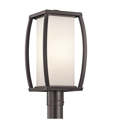Kichler Lighting Bowen 1 Light Outdoor Post Lantern in Architectural Bronze 49342AZ