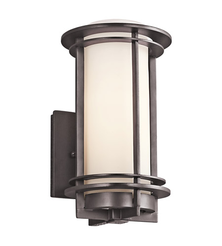Kichler 49344AZ Pacific Edge 1 Light 11 inch Architectural Bronze Outdoor Wall Lantern in Standard photo