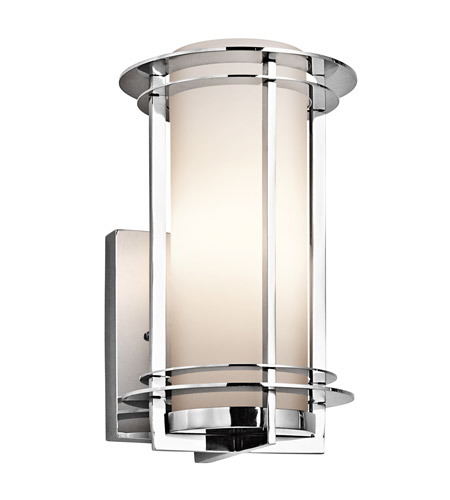 Kichler Lighting Pacific Edge 1 Light Outdoor Wall Lantern in Polished Stainless Steel 49344PSS316