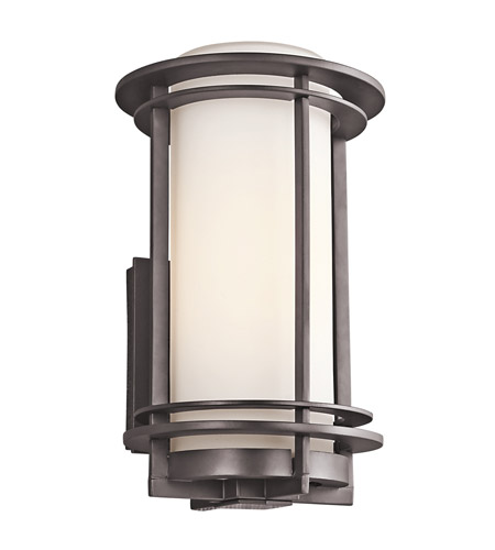 Kichler 49345AZ Pacific Edge 1 Light 13 inch Architectural Bronze Outdoor Wall Lantern in Standard photo