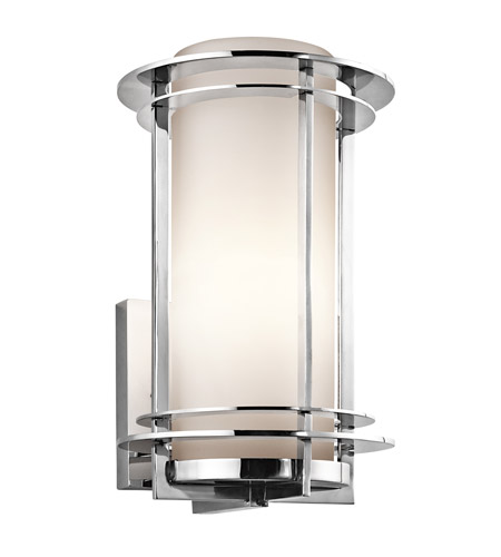 Kichler 49345PSS316 Pacific Edge 1 Light 13 inch Polished Stainless Steel Outdoor Wall Lantern in Standard photo