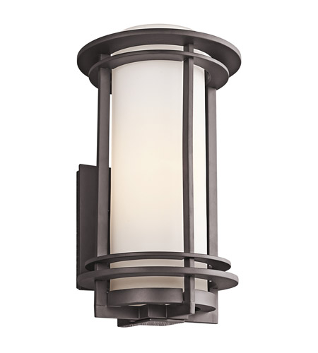 Kichler 49346AZ Pacific Edge 1 Light 17 inch Architectural Bronze Outdoor Wall Lantern in Standard photo