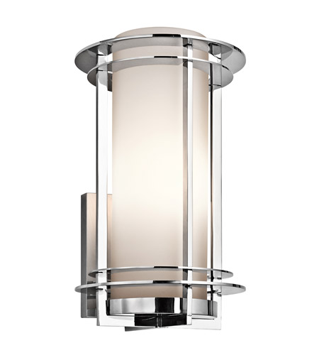 Kichler 49346pss316 pacific edge 1 light 16 inch polished stainless kichler 49346pss316 pacific edge 1 light 16 inch polished stainless steel outdoor wall lantern in standard aloadofball Choice Image