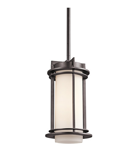 Kichler Lighting Pacific Edge 1 Light Outdoor Pendant in Architectural Bronze 49347AZ