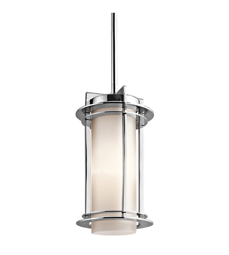 Kichler Lighting Pacific Edge 1 Light Outdoor Pendant in Polished Stainless Steel 49347PSS316