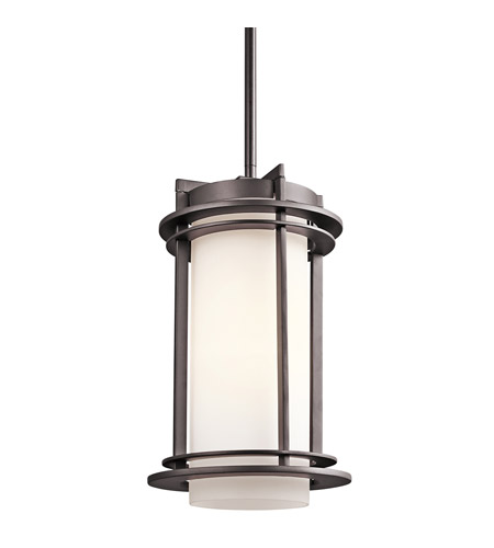 Kichler 49348AZ Pacific Edge 1 Light 8 inch Architectural Bronze Outdoor Pendant photo