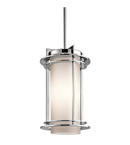 Kichler Lighting Pacific Edge 1 Light Outdoor Pendant in Polished Stainless Steel 49348PSS316
