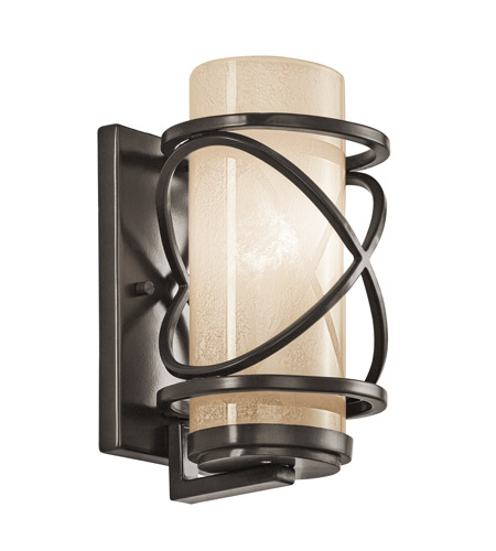 Kichler Lighting Trafari 1 Light Small Outdoor Wall Lantern in Architectural Bronze 49356AZ photo