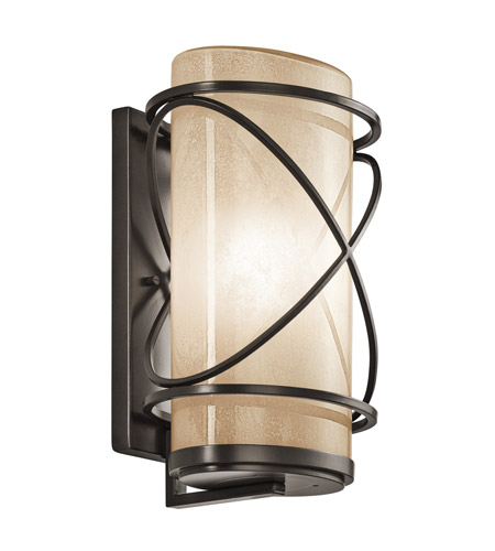 Kichler Lighting Trafari 1 Light XLarge Outdoor Wall Lantern in Architectural Bronze 49358AZ photo