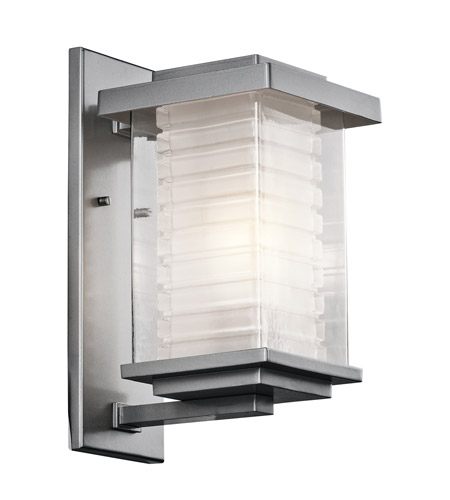 Kichler Lighting Ascari 1 Light Medium Outdoor Wall Lantern in Platinum 49365PL photo