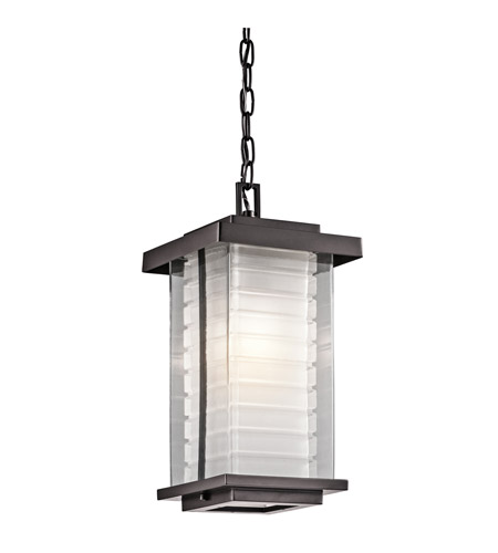 Kichler Lighting Ascari 1 Light Outdoor Hanging Pendant in Architectural Bronze 49368AZ photo
