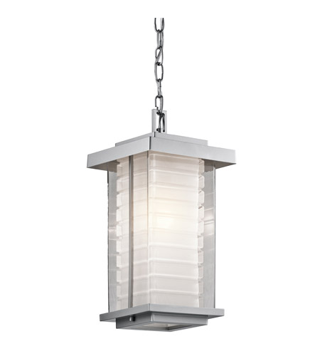 Kichler Lighting Ascari 1 Light Outdoor Hanging Pendant in Platinum 49368PL