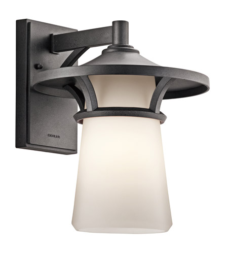 Kichler Lighting Lura 1 Light Outdoor Wall Lantern in Anvil Iron 49371AVI