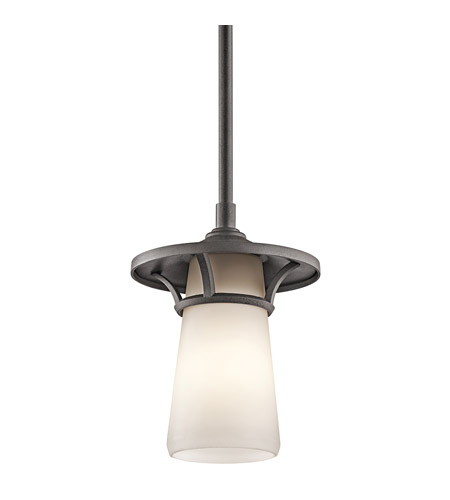 Kichler Lighting Lura 1 Light Outdoor Pendant in Anvil Iron 49372AVI