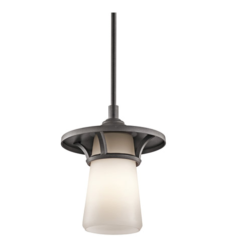 Kichler Lighting Lura 1 Light Outdoor Pendant in Anvil Iron 49373AVI