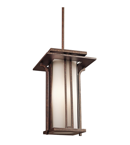 Kichler Lighting Priya 1 Light Outdoor Pendant in Aged Bronze 49379AGZ photo