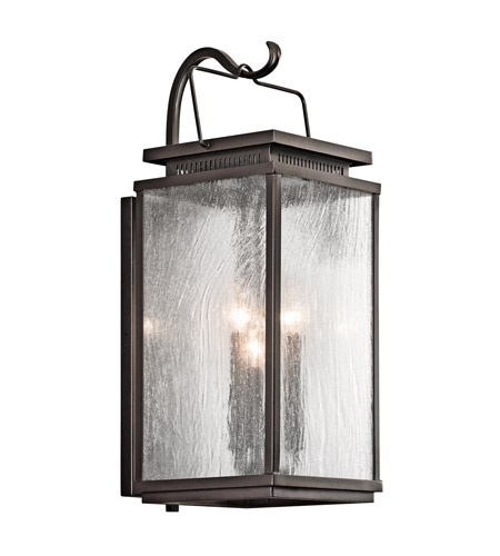 Kichler Manningham 3 Light Outdoor Wall - Medium in Olde Bronze 49386OZ photo