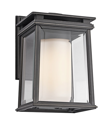 Kichler Lighting Lindstrom 1 Light Outdoor Wall Lantern in Rubbed Bronze 49400RZ photo