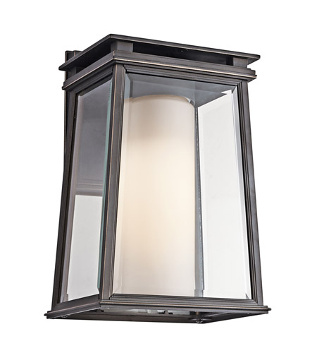 Kichler Lighting Lindstrom 1 Light Outdoor Wall Lantern in Rubbed Bronze 49401RZ photo