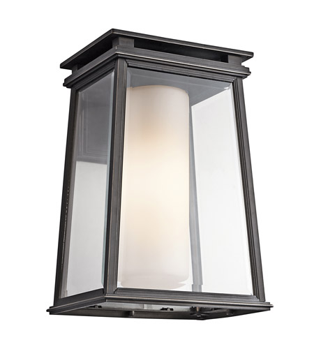 Kichler Lighting Outdoor Kichler lighting lindstrom 1 light outdoor wall lantern in rubbed kichler lighting lindstrom 1 light outdoor wall lantern in rubbed bronze 49402rz workwithnaturefo