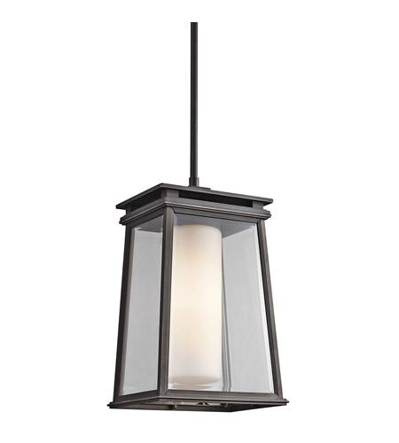 Kichler Lighting Lindstrom 1 Light Outdoor Pendant In Rubbed Bronze 49403rz Photo
