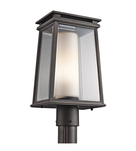 Kichler Lighting Lindstrom 1 Light Post Lantern in Rubbed Bronze 49404RZ photo