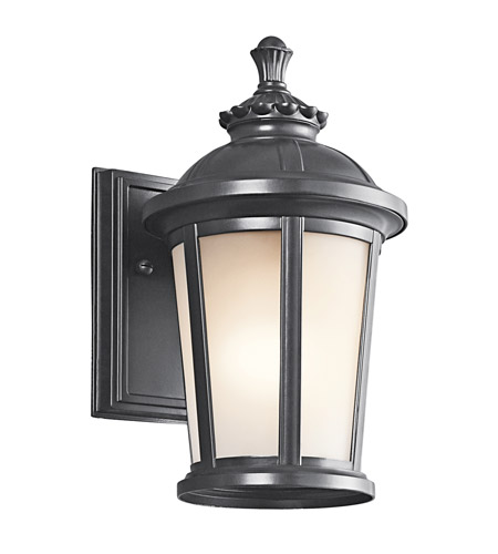 Kichler Lighting Ralston 1 Light Outdoor Wall Lantern in Black (Painted) 49409BK
