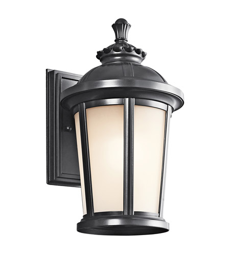 Kichler Lighting Ralston 1 Light Outdoor Wall Lantern in Black (Painted) 49410BK