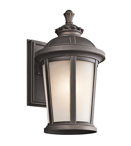 Kichler 49410RZ Ralston 1 Light 14 inch Rubbed Bronze Outdoor Wall Lantern photo