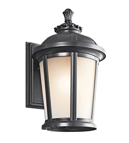 Kichler Lighting Ralston 1 Light Outdoor Wall Lantern in Black 49411BK photo