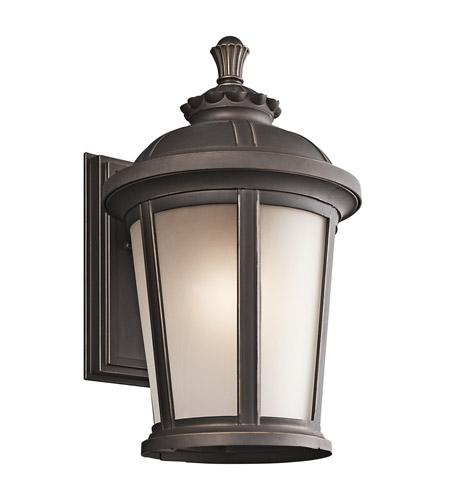 Kichler 49411RZ Ralston 1 Light 17 inch Rubbed Bronze Outdoor Wall Lantern photo