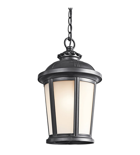 Kichler Lighting Ralston 1 Light Outdoor Pendant in Black (Painted) 49412BK