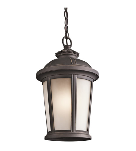 Kichler Lighting Ralston 1 Light Outdoor Pendant in Rubbed Bronze 49412RZ