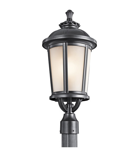 Kichler Lighting Ralston 1 Light Outdoor Post Lantern in Black (Painted) 49413BK