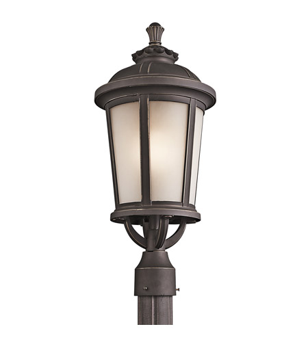 Kichler Lighting Ralston 1 Light Outdoor Post Lantern in Rubbed Bronze 49413RZ photo
