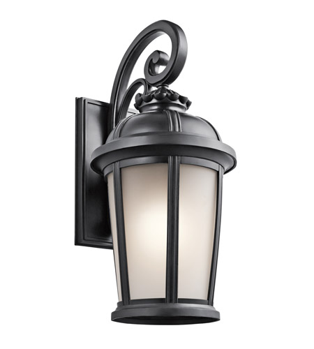 Kichler Lighting Builder Ralston 1 Light Outdoor Wall Lantern in Black 49414BK photo