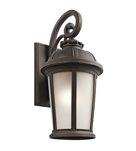 Kichler Lighting Builder Ralston 1 Light Outdoor Wall Lantern in Rubbed Bronze 49414RZ