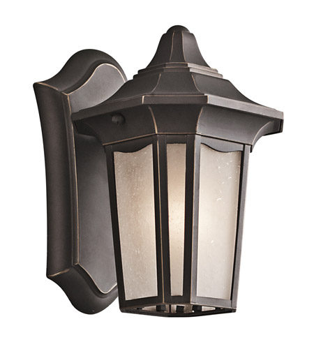 Kichler Lighting Nob Hill 1 Light Outdoor Wall Lantern in Rubbed Bronze 49415RZ photo
