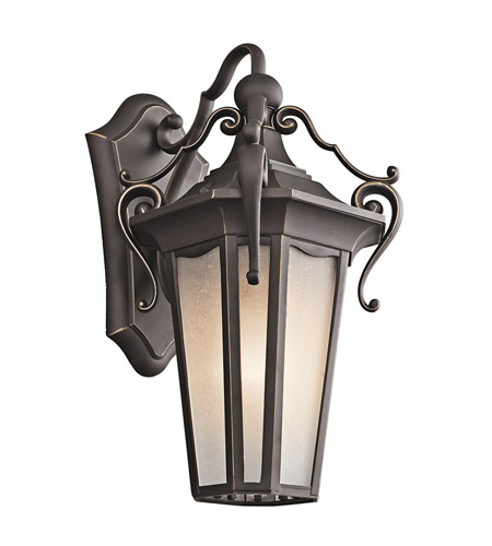 Kichler Lighting Nob Hill 1 Light Outdoor Wall Lantern in Rubbed Bronze 49416RZ photo
