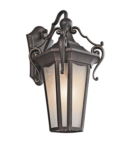 Kichler Lighting Nob Hill 1 Light Outdoor Wall Lantern in Rubbed Bronze 49417RZ