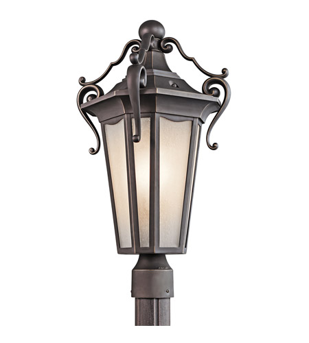 Kichler Lighting Nob Hill 1 Light Outdoor Post Lantern in Rubbed Bronze 49418RZ