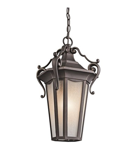 Kichler Lighting Nob Hill 1 Light Outdoor Pendant in Rubbed Bronze 49419RZ photo