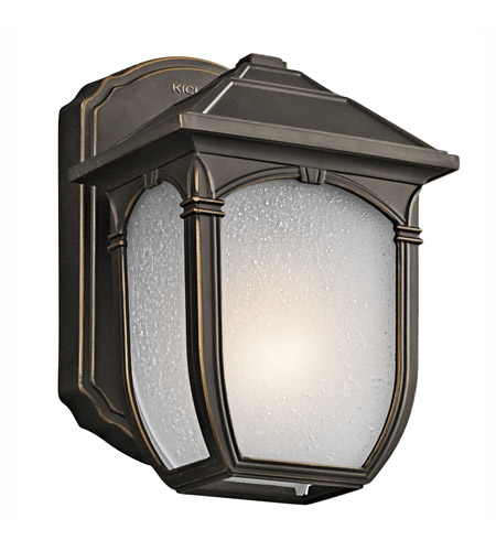Kichler Lighting Builder Lakeway 1 Light Outdoor Wall Lantern in Olde Bronze 49428RZ photo