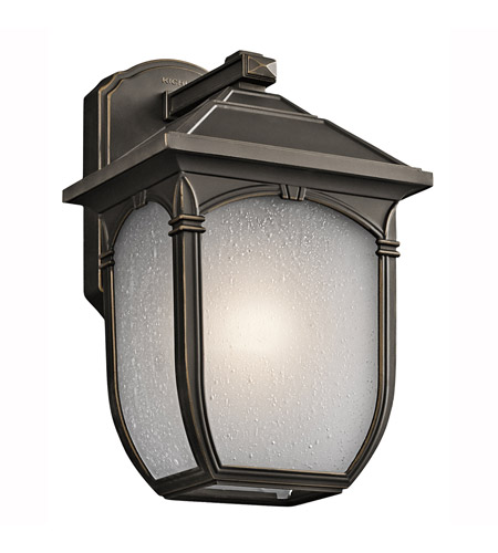 Kichler Lighting Builder Lakeway 1 Light Outdoor Wall Lantern in Olde Bronze 49429RZ photo