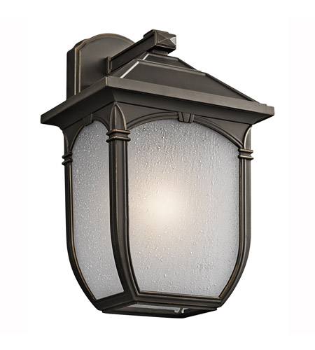 Kichler Lighting Builder Lakeway 1 Light Outdoor Wall Lantern in Olde Bronze 49430RZ photo