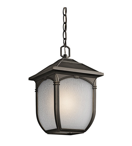 Kichler Lighting Builder Lakeway 1 Light Outdoor Pendant in Olde Bronze 49432RZ photo