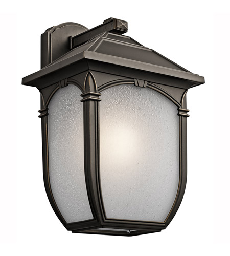 Kichler Lighting Builder Lakeway 1 Light Outdoor Wall Lantern in Olde Bronze 49433RZ photo